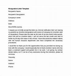 Nice Resignation Letter Free 9 Sample Resignation Letter Examples In Ms Word Pdf
