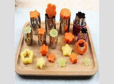 8 pieces / sets Stainless steel flower fruit / vegetable