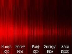 bright red hair color chart 6 jpg 284 215 216 pixels red