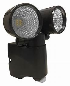 Battery Operated Security Lights Home Depot Acclaim Led Dual Head Battery Operated Bronze Bright