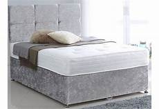 europa beds 4ft6 cube diamante crushed velvet bed