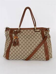 gucci gg canvas top handle bag large luxury bags