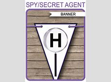 Secret Agent Party Banner Template   Happy Birthday