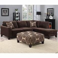 shop porter malibu chocolate brown sectional sofa with