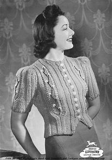 the vintage pattern files 1940 s knitting daytime sweater