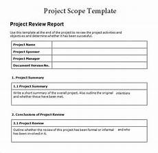 Project Scope Template Word 3 Free Project Scope Statement Templates Word Excel