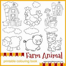 farm animal printable colouring pages