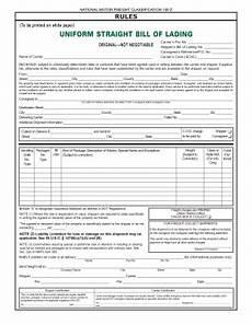 Straight Bill Of Lading Pdf 24 Printable Uniform Straight Bill Of Lading Original