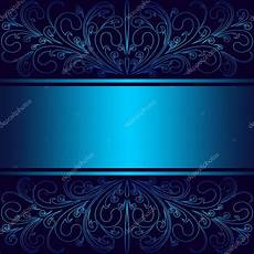 fondo elegante luxury blue background with floral borders and