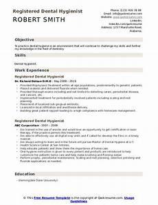 Dental Hygienist Resume Registered Dental Hygienist Resume Samples Qwikresume
