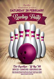 Bowling Flyer Bowling Party V02 Flyer Psd Template By Elegantflyer