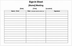 Sample Of Attendance Register 11 Free Sample Meeting Attendance Sheet Templates