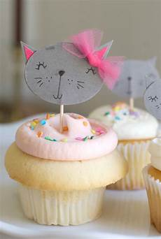 diy kitty cupcake toppers project nursery