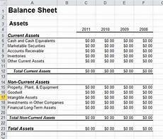 Sample Excel Balance Sheet Balance Sheet Template In Excel