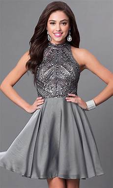 formals silver homecoming dress promgirl