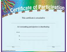 Free Certificates Of Participation Printable Participation Certificates Ipasphoto
