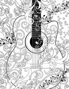 guitar coloring adultcoloringpages mit