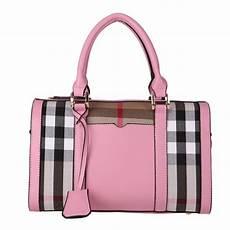 British Designer Bags Fashion British Plaid Ladies Bags Leather Women Brand