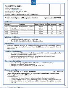 Best Resume Format Download Sample Of A Beautiful Resume Format Of Mba Fresher