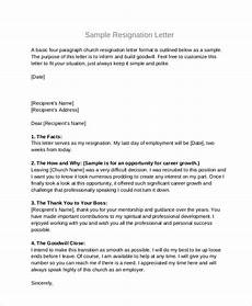 Board Resignation Free 4 Sample Board Resignation Letter Templates In Pdf