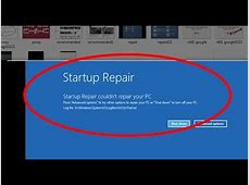How to fix startup repair couldn't repair your pc on