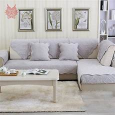 europe style beige grey floral plush sofa cover quilted