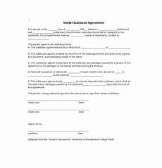 Sublet Agreement Format Sublet Agreement Template