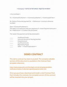 Insufficient Funds Letter To Customer Notice Of Rejected Payment Letter 3 Easy Steps