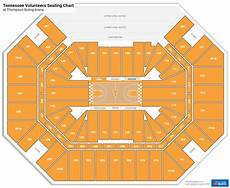Thompson Boling Arena Seating Chart With Row Numbers Thompson Boling Arena Seating Charts Rateyourseats Com