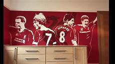 liverpool fc wallpaper mural liverpool fc bedroom mural timelapse and reaction