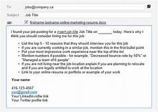 Sample Email To Apply For A Job Email Template For Successful Online Job Applications