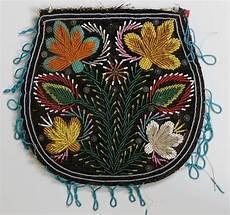 antique mid 19th c american micro beaded flat bag