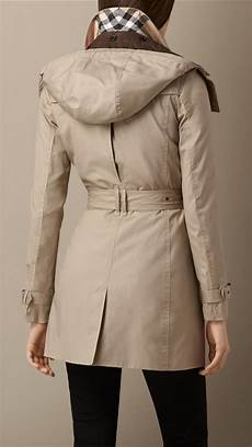 hooded trench coats for burberry hooded trench coat with warmer in lyst