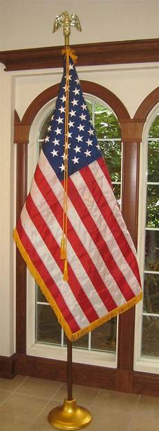 American Flag Office American Flag Mounted Set For Stage Court Room Altar