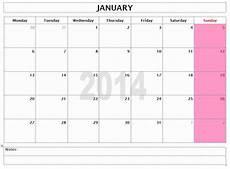Monthly Word Calendar 2014 Monthly Calendar