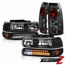 1997 Chevy Silverado Light Bulb Smoke Light Led Parking Headlights Kit 1999 2000 2001