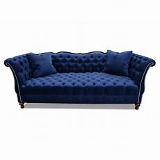 Blue Velvet Tufted Sofa 3d Image by Shop Gigi Tufted Sofa Navy Velvet Haute House Home
