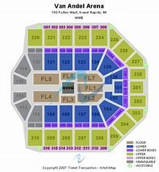 Van Wezel Seating Chart With Seat Numbers Van Andel Arena Seating Chart Van Andel Arena Event