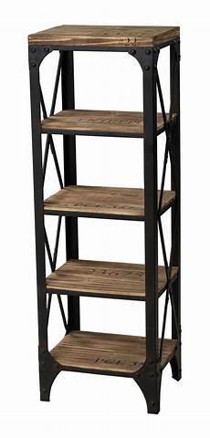 etagere metal industrial bookcase shelves etagere modern metal