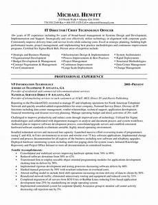 Cio Sample Resume Cio Chief Information Officer Resume
