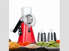 Manual Vegetable Chopper with 3 Interchangeable Stainless