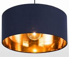 White And Copper Light Shade The Huge Pendant Shade In Navy And Copper Maximizes The