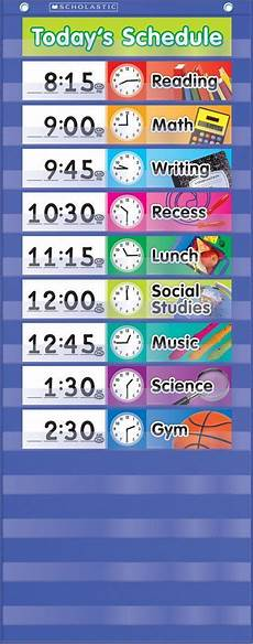 Make Your Own School Schedule Daily Schedule Pocket Chart You Can Always Make Your Own