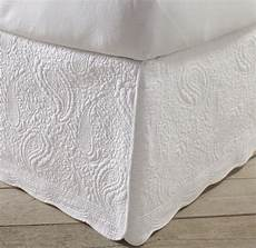 white quilted bed skirt king size 100 cotton 18 inch drop