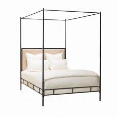 marco bed cal king hammered iron w canopy tapering