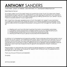 Counselor Cover Letter Samples Youth Counselor Cover Letter Sample Cover Letter