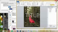 How To Create A Cover Page How To Make An Ebook Cover In Microsoft Word Part 1
