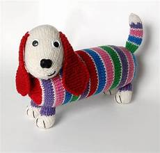 knitting animals dave the stash busting dachshund knit flat in the
