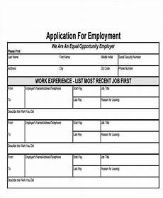 Jobs Forms 49 Job Application Form Templates Free Amp Premium Templates