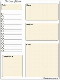 Daily Planner 2020 2020 Printable Daily Planner Planner Templates